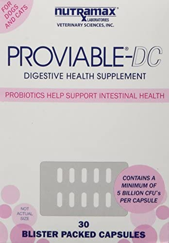 Proviable-DC Probiotic Digestive Health Supplement for Dogs and Cats, 30 ct. Sprinkle Capsules 1