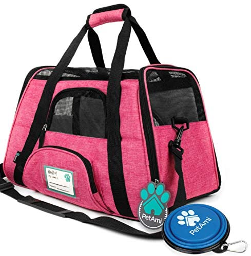 PetAmi Premium Airline Approved Soft-Sided Pet Travel Carrier by Ventilated, Comfortable Design with Safety Features | Ideal for Small to Medium Sized Cats, Dogs, and Pets 1